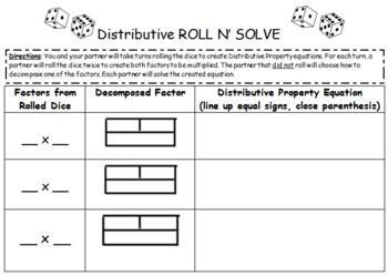 Distributive Property Game