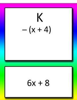 Distributive Property Round Robin Common Core 6th and 7th grade Math