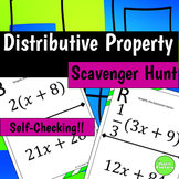 All Positive Distributive Property Scavenger Hunt Activity