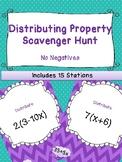 Distributive Property Scavenger Hunt | No Negatives