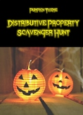 Distributive Property Scavenger Hunt- Pumpkin Theme