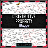 Distributive Property: Simplifying Expressions Maze