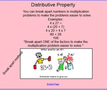 Distributive Property Smart Notebook