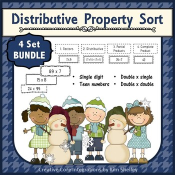 Distributive Property Sort - Four Levels