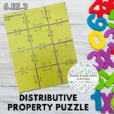 Distributive Property Square Puzzle (6.EE.3)