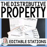 Distributive Property Stations - Editable