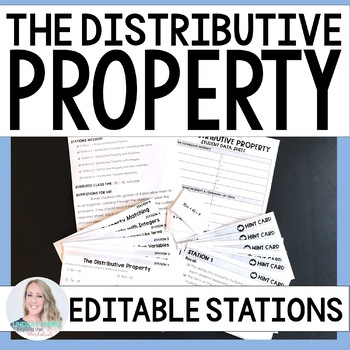 Distributive Property Math Stations
