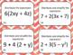 Distributive Property Task Card Bundle (56 cards)