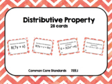 Distributive Property Task Card Bundle (56 cards)