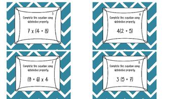 Distributive Property Task Cards!