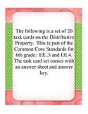 Distributive Property Task Cards 6.EE.3 & 6.EE.4
