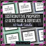 Distributive Property Task Cards (Algebra)