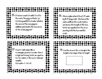 Distributive Property Task Cards--Common Core 6th and 7th Grade