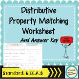 Distributive Property VersaTiles Worksheet