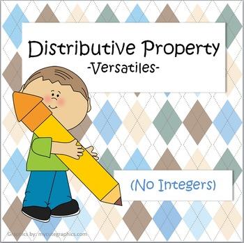 Distributive Property - Versatiles