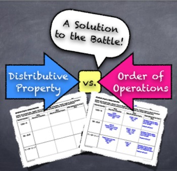 Distributive Property Versus Order of Operations: Solution to the Battle