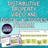 Distributive Property Video and Digital Activities FREEBIE