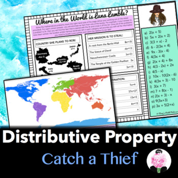 Distributive Property : Catch a Thief