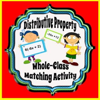 Distributive Property Whole-Class Matching Activity