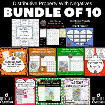 Distributive Property With Negatives Gotta Luv It Bundle