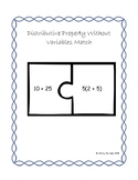Distributive Property Without Variables Matching Game