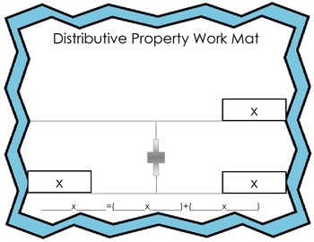 Distributive Property Work Mat