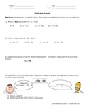 Distributive Property Worksheet