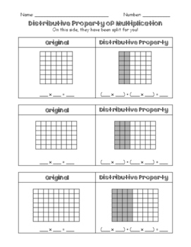 Distributive Property Worksheet | Teachers Pay Teachers