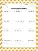 Distributive Property Worksheet