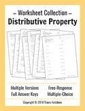 Distributive Property - Worksheet Collection