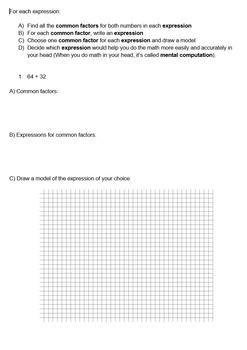 Distributive Property Worksheet - Middle School