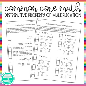 distributive property worksheets by my rainy day creations tpt. Black Bedroom Furniture Sets. Home Design Ideas