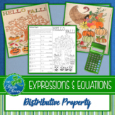 Distributive Property Worksheets - Color By Number