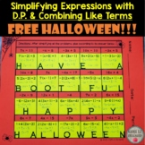 Distributive Property and Combining Like Terms Halloween H