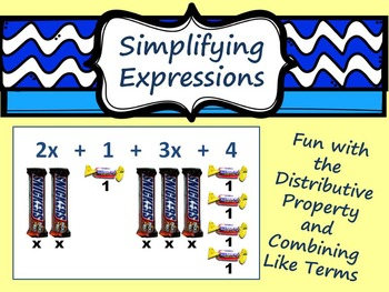 Distributive Property and Combining Like Terms on the Smartboard