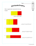 Commutative Property and Distributive Property Pack