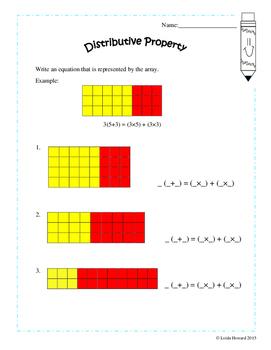 Commutative Property and Distributive Property Pack