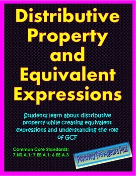 Distributive Property and Equivalent Expressions