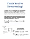 Distributive Property and Factoring Expressions Interactive Notes for Google