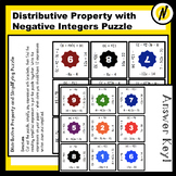 Distributive Property and Simplifying with Integers Matchi