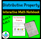 Distributive Property foldable with practice for interactive notebook