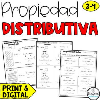 Distributive Property in Spanish / Propiedad distributiva / Multiplicación