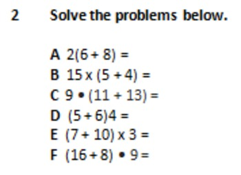 Distributive Property of Addition Over Multiplication SOL 5.19
