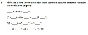Distributive Property of Addition Over Multiplication