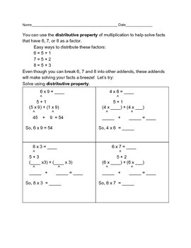 Distributive Property of Multiplication 2
