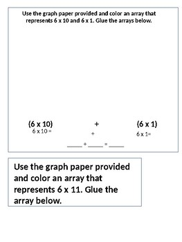 Interactive Notebook for the Distributive Property of Multiplication