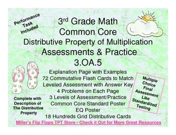 Distributive Property of Multiplication - 3.OA.5 - Common Core Math