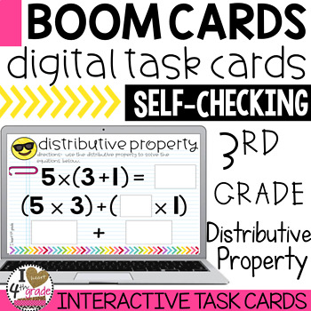 Distributive Property of Multiplication Boom Cards