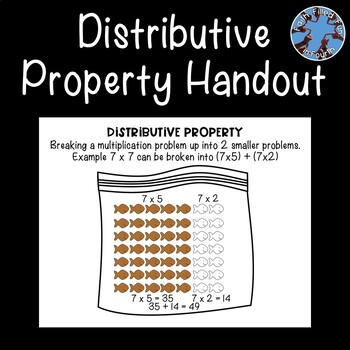 Distributive Property of Multiplication Handout