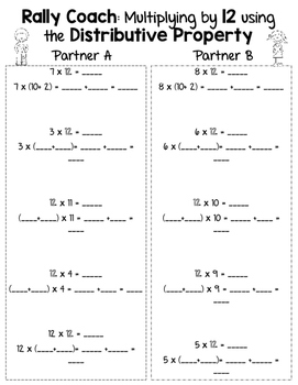 Distributive Property of Multiplication Printables:  CCSS 3.OA.5